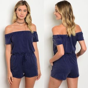 """Other - NWT """"Arielle"""" Navy Festival Romper"""